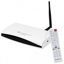 Receptor Digital AzAmerica S 1009 PLUS ACM - Sistema Linux, Full HD e Wifi USB