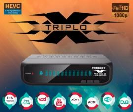 Receptor FREESKY TRIPLO X 3 Tunners - SKS IKS Lançamento