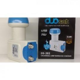 LNB universal DS-202 Duosat Banda KU- Duas Saídas - á prova de água