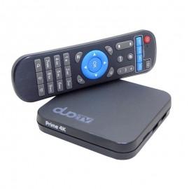 Receptor DuoTV Prime 4K - IPTV - 16GB  - Sem antenas